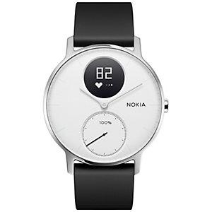 Nokia HR Steel aktivitetsarmband 36 mm (vit)