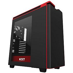 NZXT H440W 2017 datorchassi (svart/röd/fönster)