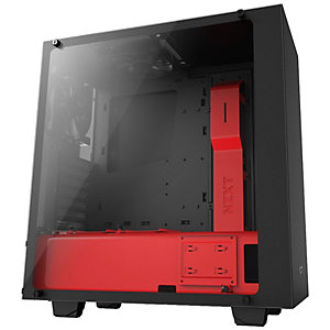 NZXT S340 Elite datorchassi (matt svart/röd)