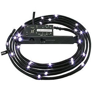 NZXT flätad vit kabel LED belysning (1 m)