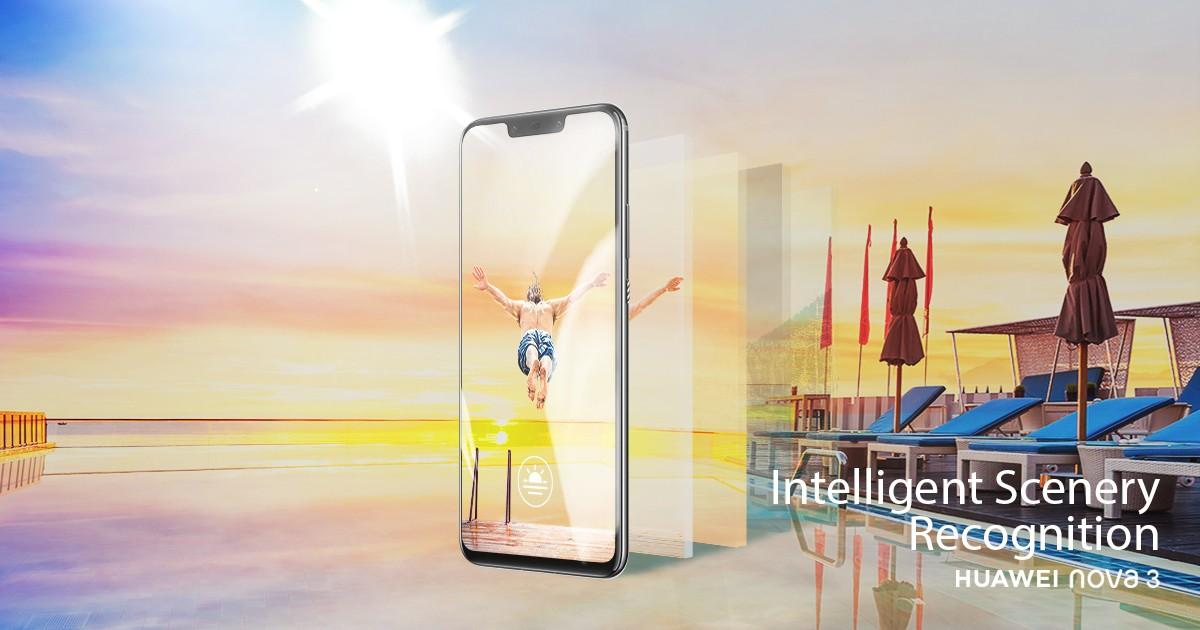 Huawei Nova 3 -älypuhelimen edistynyt kameratekniikka