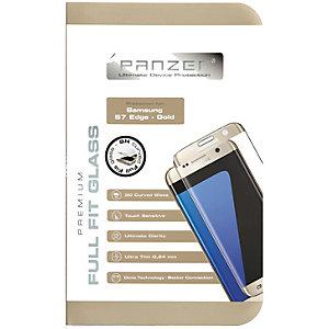 Panzer Glass skjermbeskytter til Galaxy S7 edge (gull)