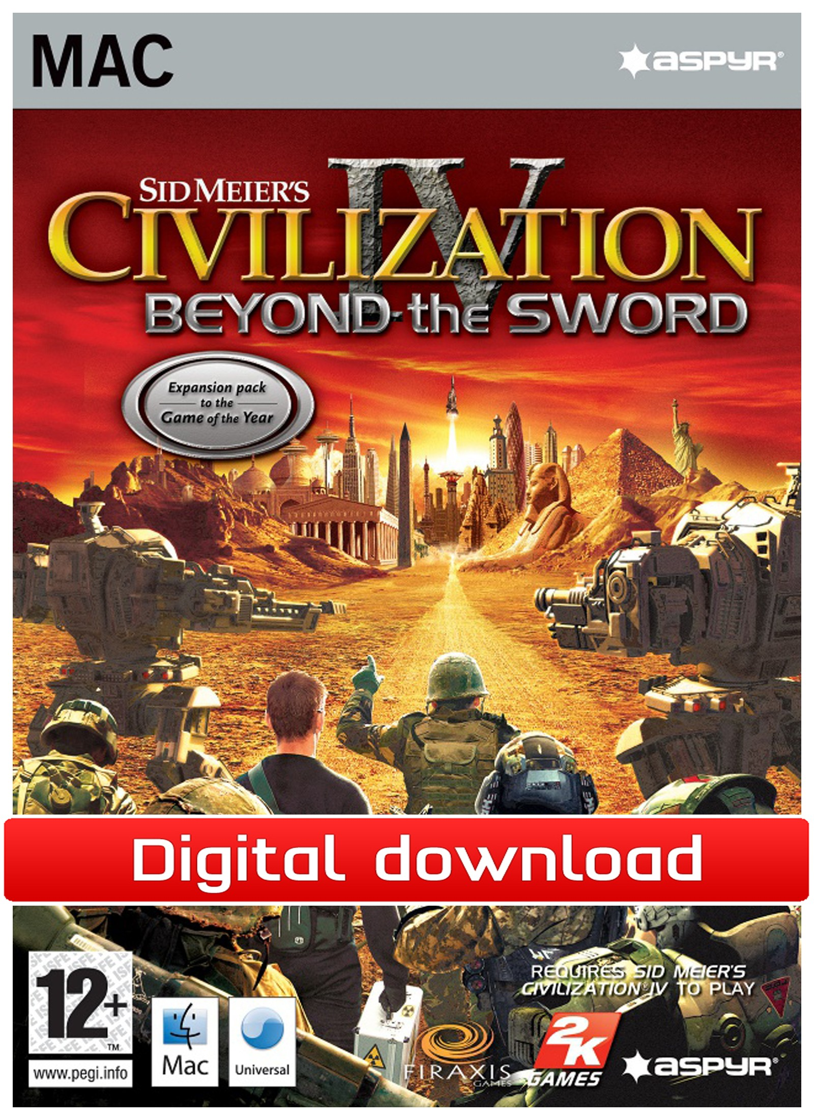 Civilization 4: Beyond the Sword (Mac nedlastning) PCDD28709
