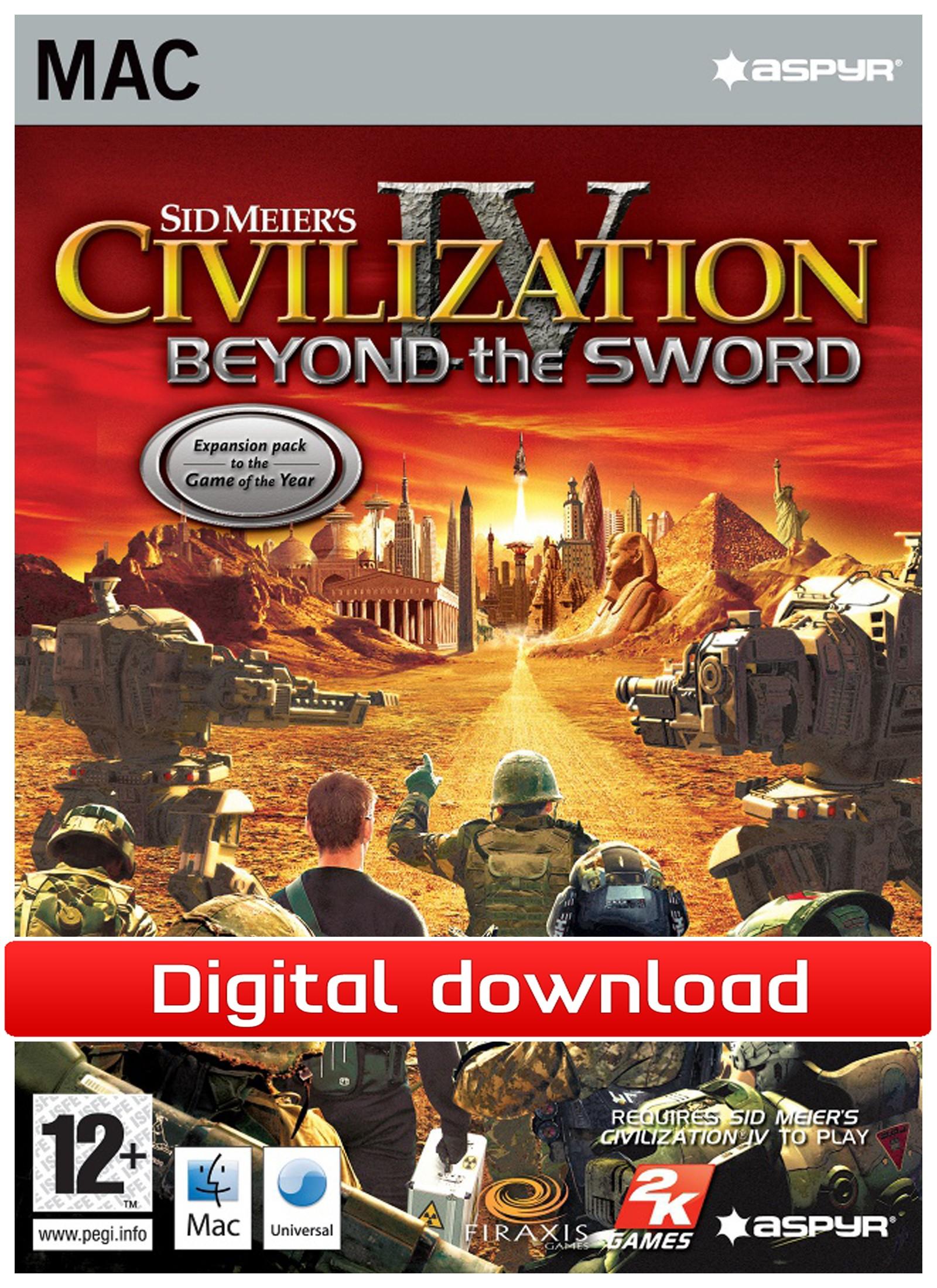 28709 : Civilization 4: Beyond the Sword (Mac nedlastning)