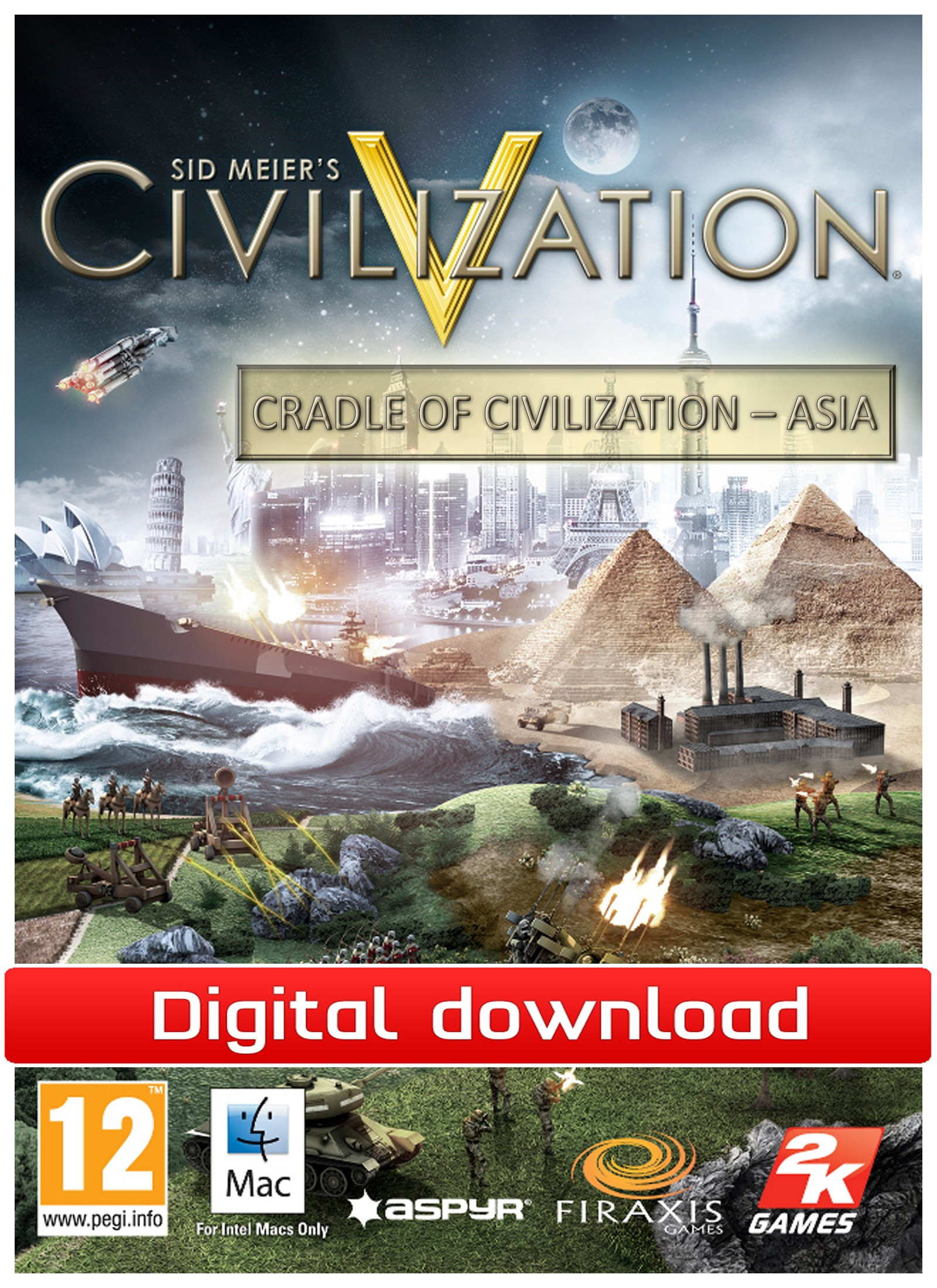 Civilization 5: CoC - Asia (Mac nedlastning) PCDD29161