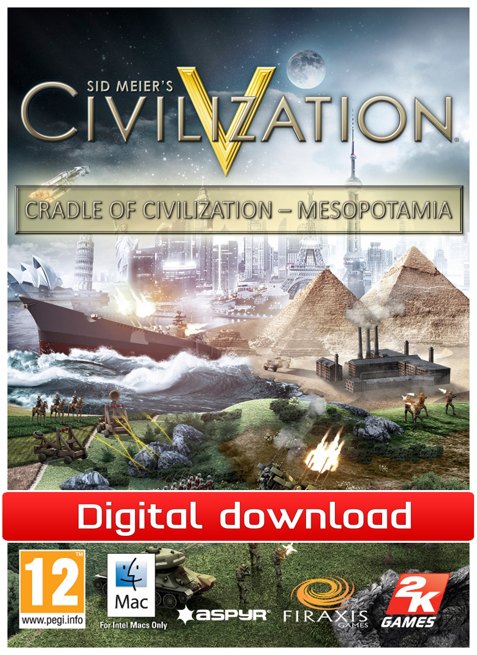 29166 : Civilization 5: CoC - Mesopotamia (Mac nedlastning)