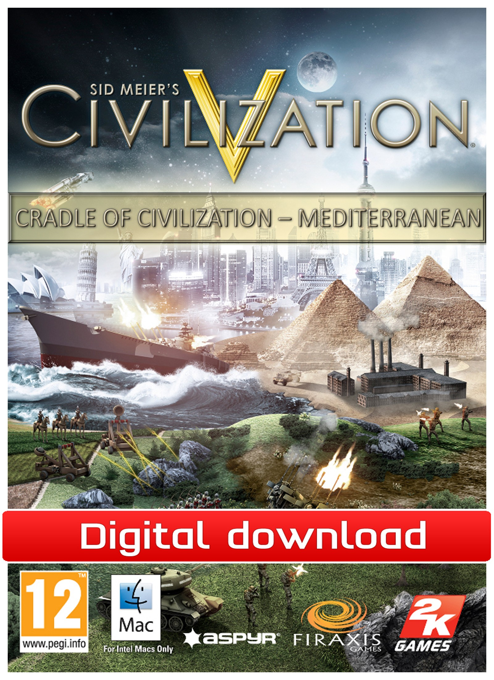 Civilization 5: CoC-The Mediterranenan(Mac nedlastning) PCDD29170