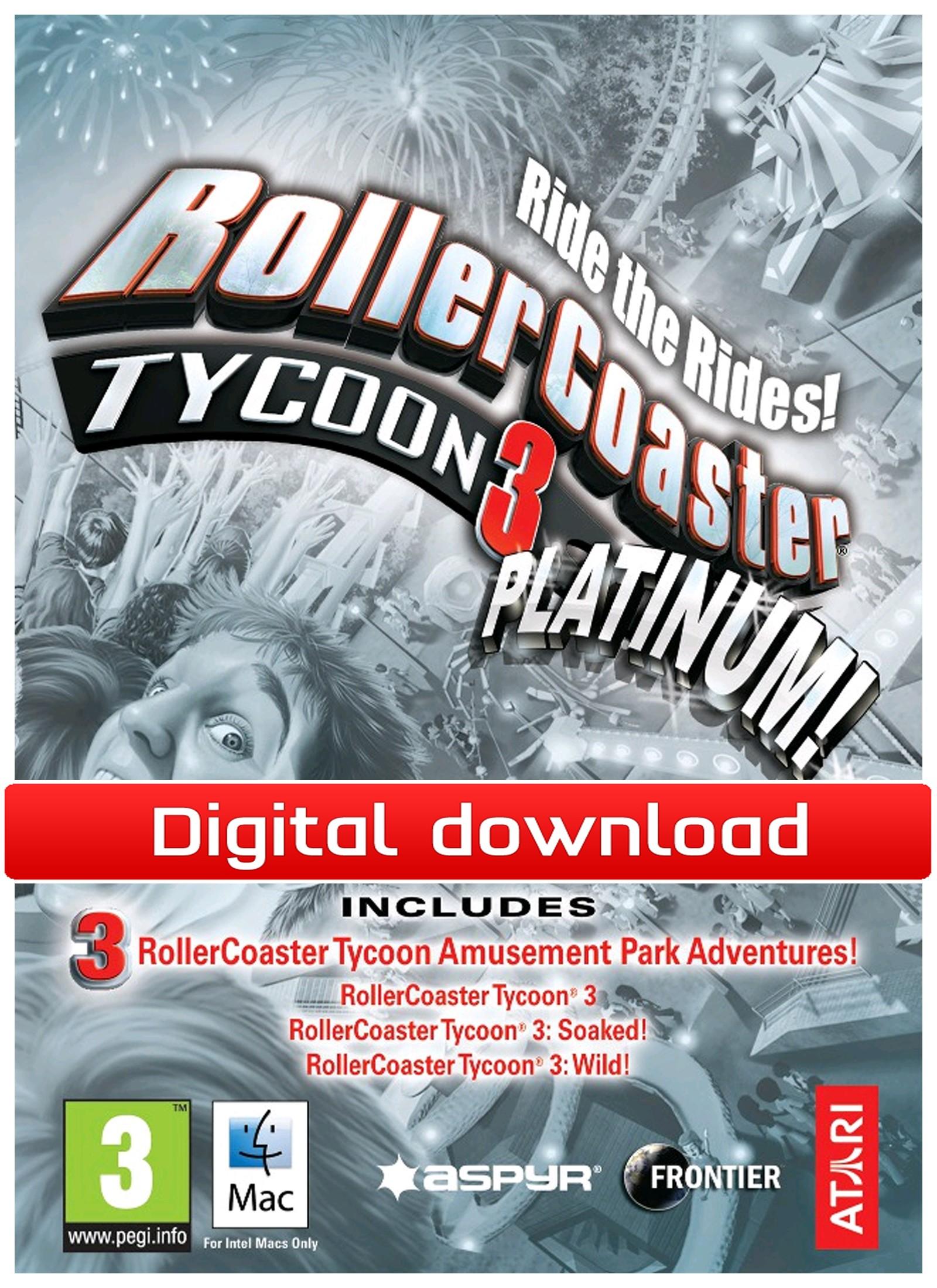 RollerCoaster Tycoon 3: Platinum (Mac nedlastning) PCDD31301