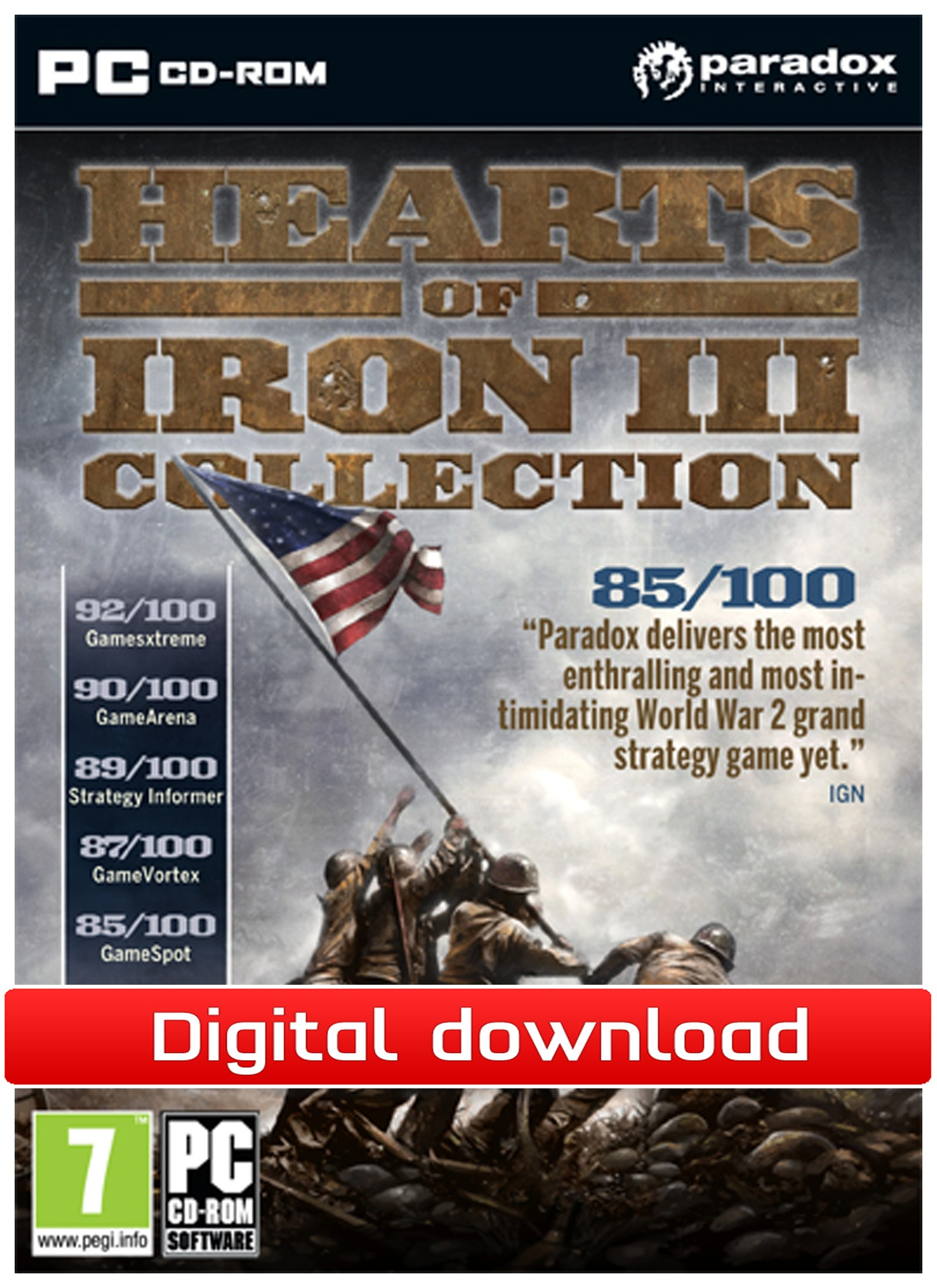 35560 : Hearts of Iron 3 Collection (PC nedlastning)