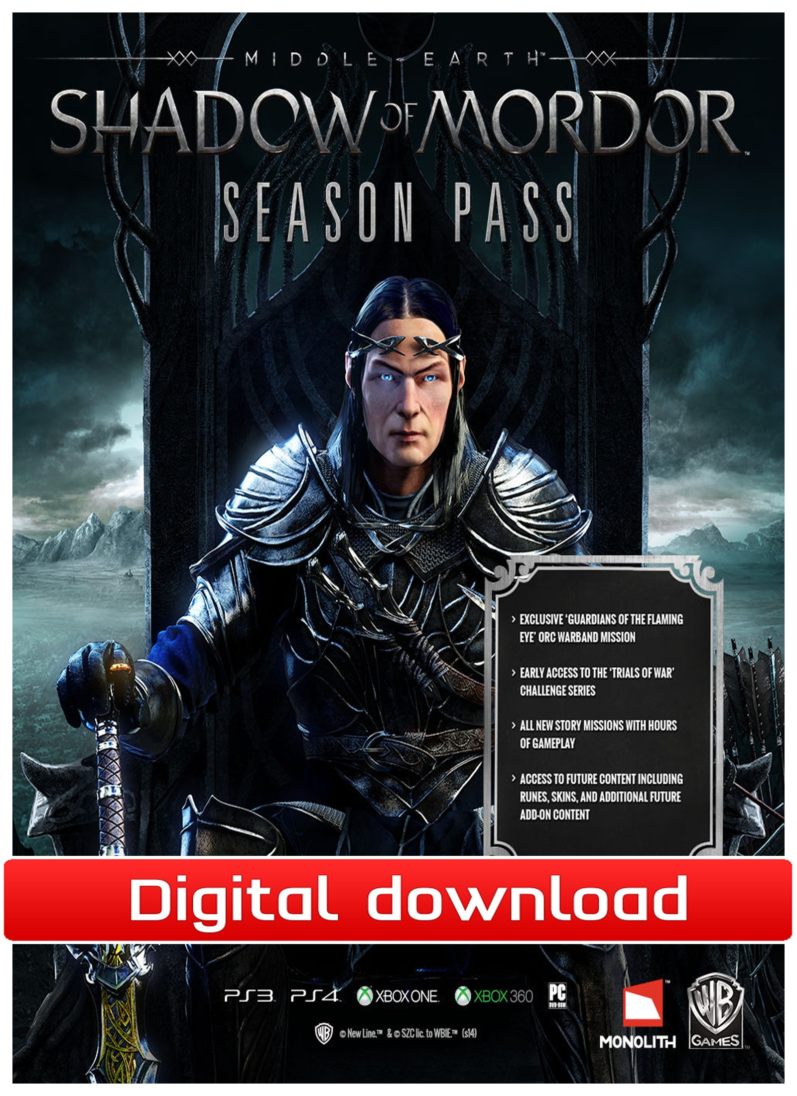 36311 : Middle-earth: Shadow of Mordor, Season Pass (PC nedl)