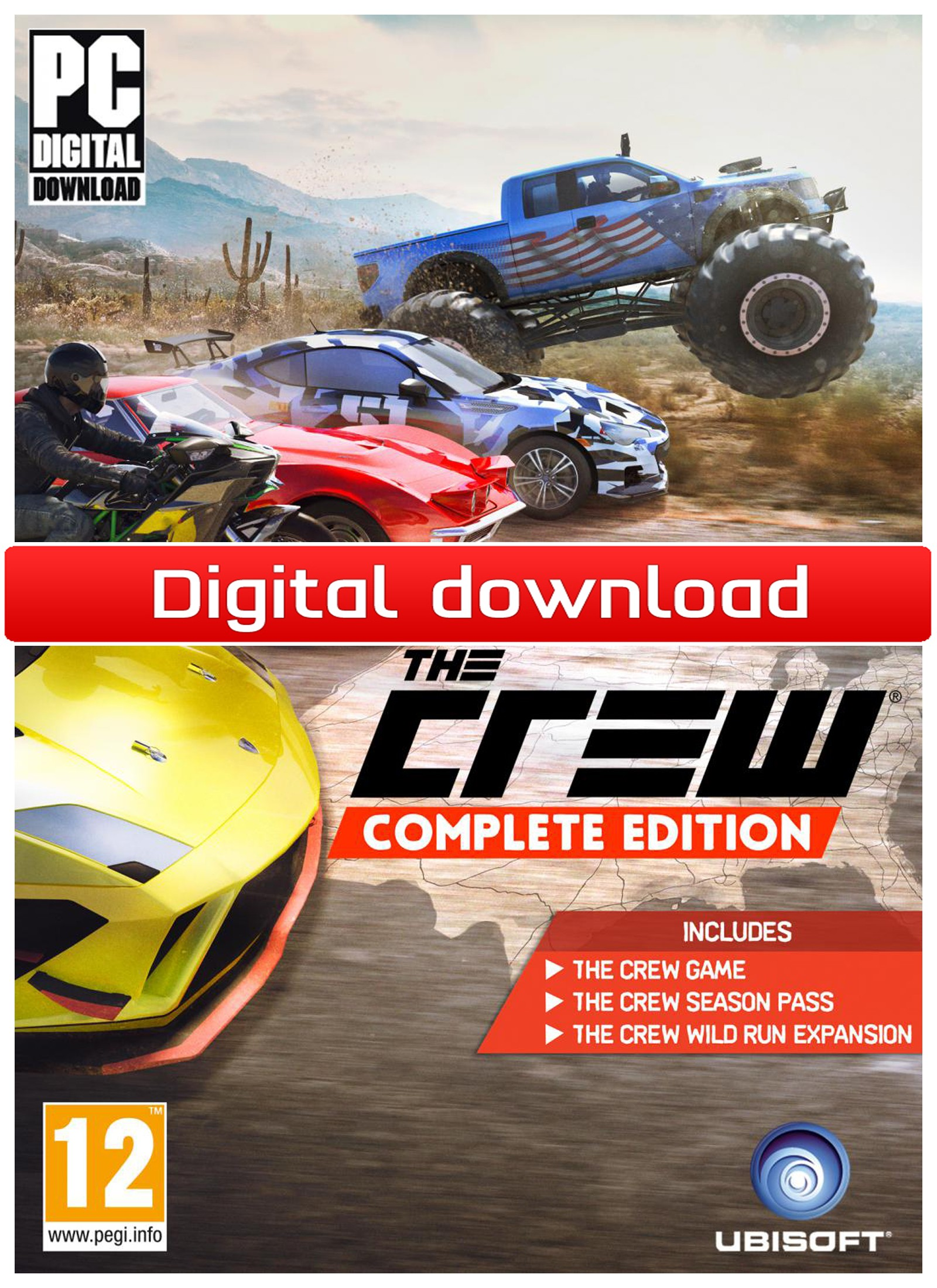 38212 : The Crew - Complete Edition (PC nedlastning)