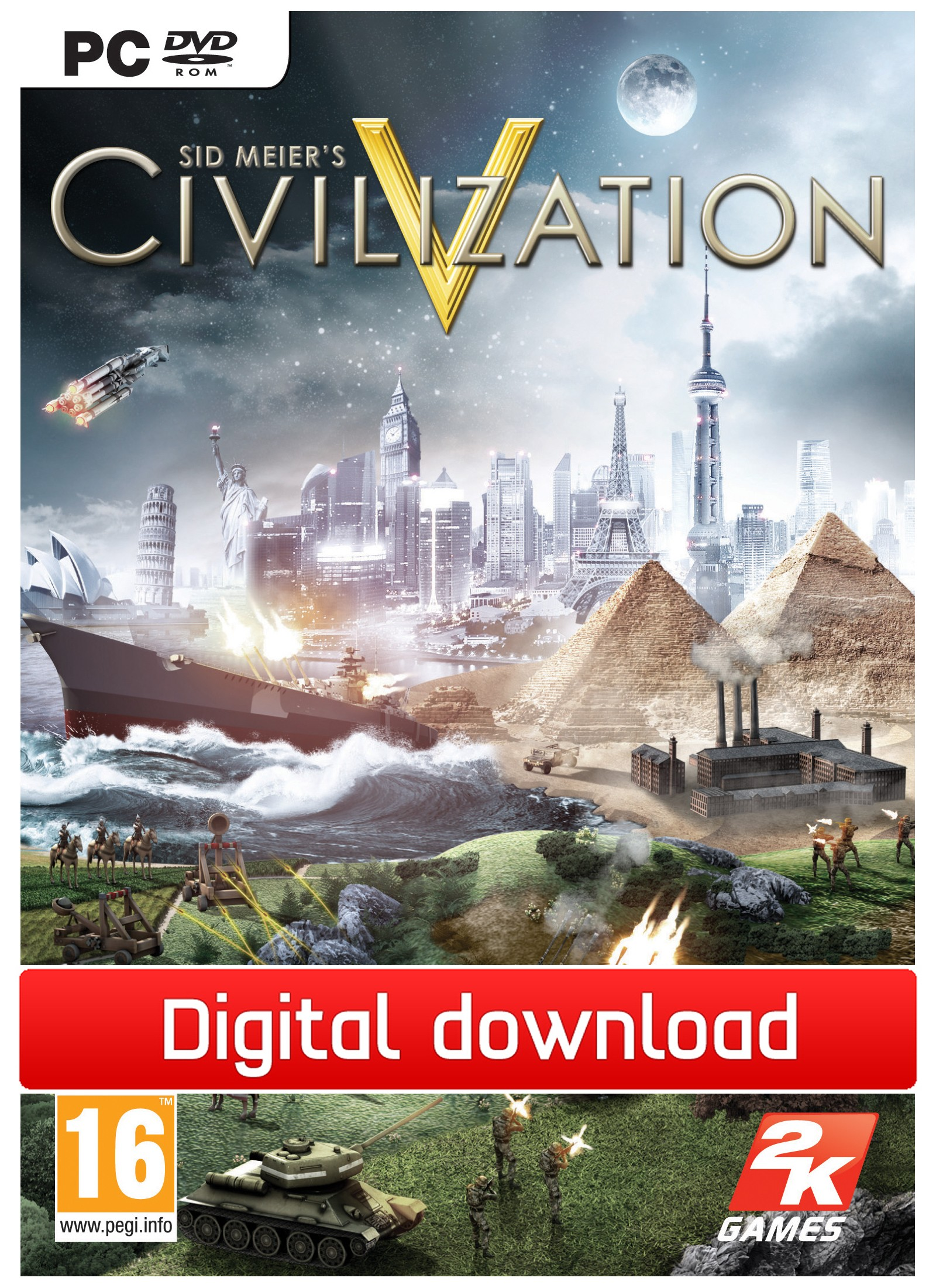 24370 : Civilization 5 (PC nedlastning)
