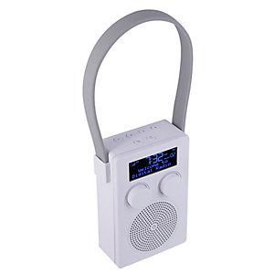 POP POPyourSHOWER bärbar radio (vit)