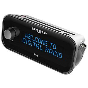 POPup klockradio radio(svart)