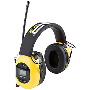 Pop@work hørselvern med DAB+ og Bluetooth (gul)
