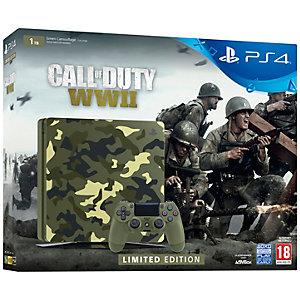PlayStation 4 Slim 1 TB + COD WWII-pakke Camouflage LE