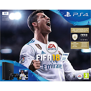 Playstation 4 Slim 1 TB + FIFA 18 standard edition
