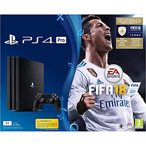 PlayStation 4 Pro 1 TB (PS4) + FIFA 18 standard edition