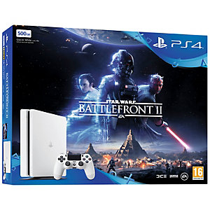PlayStation 4 Slim 500 GB m/Star Wars BF 2  (EU, hvit)