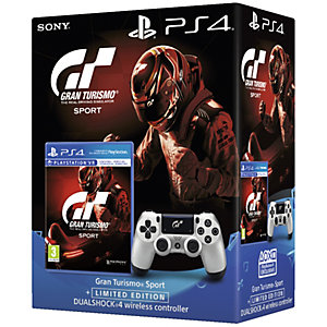 PS4 DualShock 4 peliohjain + Gran Turismo Sport peli