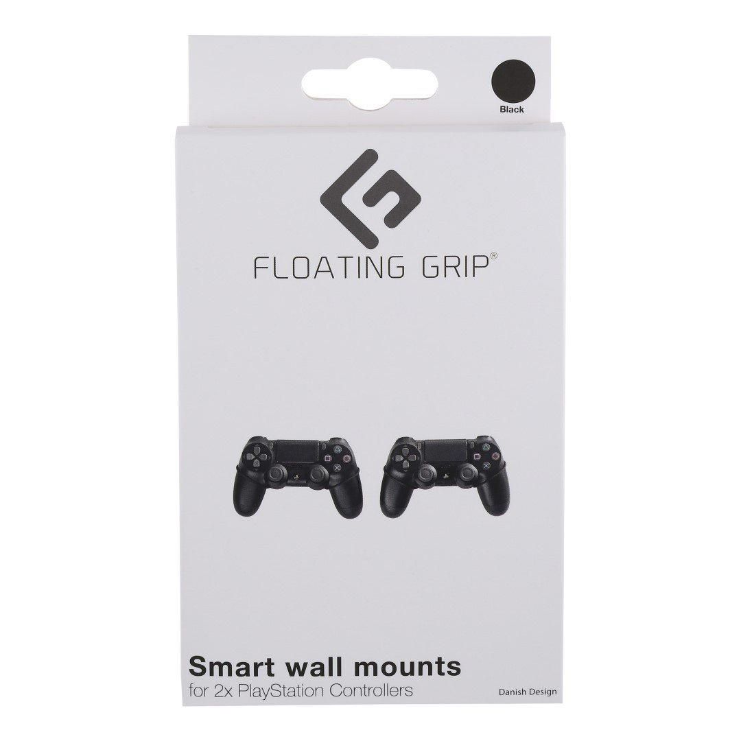 368001 : Floating Grip veggmontering PS4/PS3 kontrollere (sort)