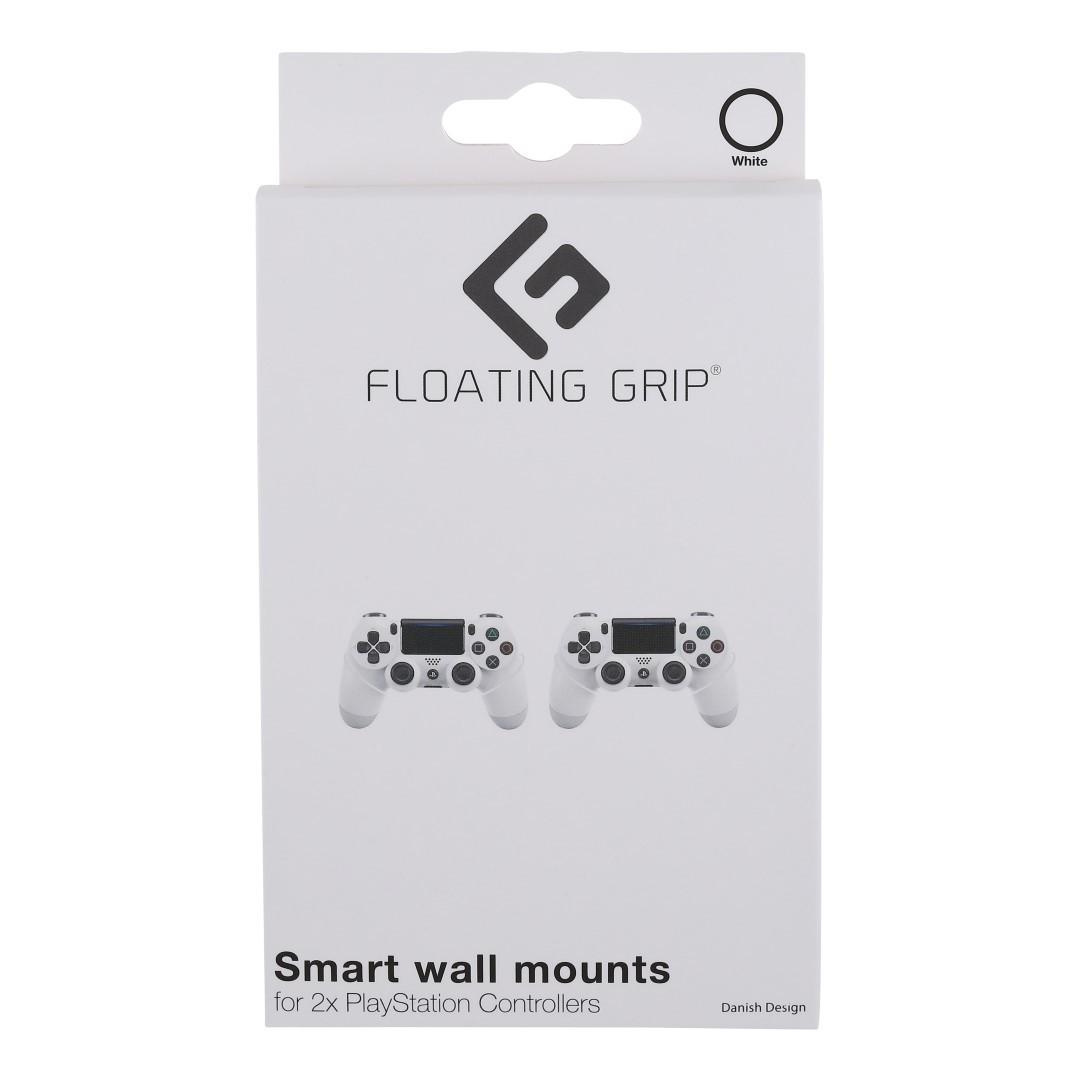 368002 : Floating Grip veggmontering PS4/PS3 kontrollere (hvit)