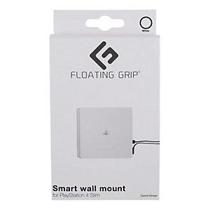 Floating Grip väggfäste för PS4 Slim konsol (vit)