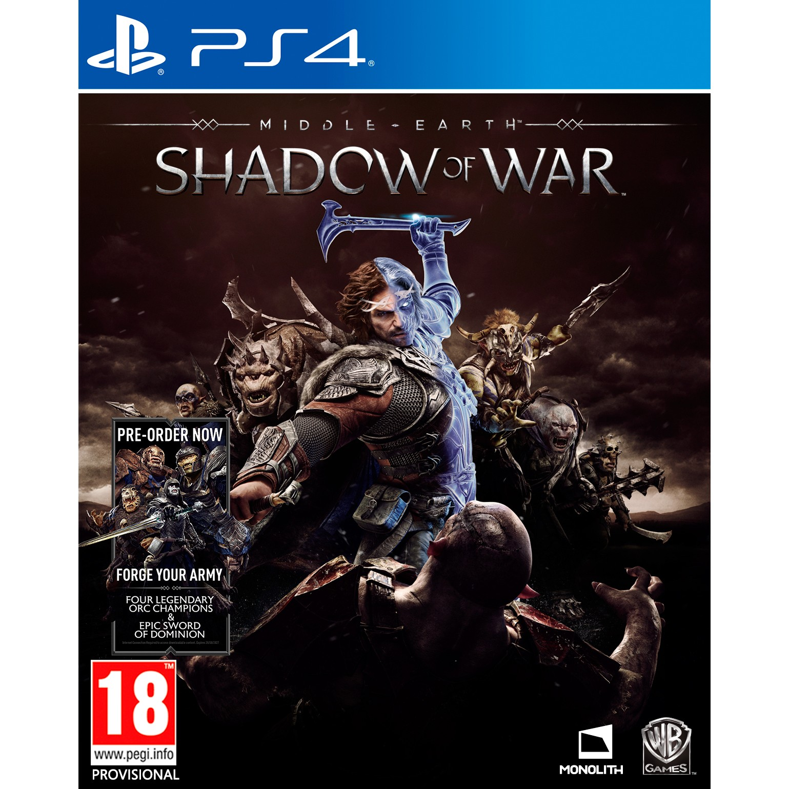 1000639380 : Middle-Earth: Shadow of War (PS4)