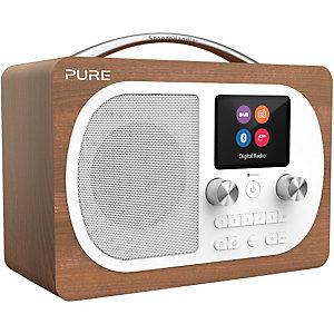 Pure Evoke H4 DAB+/FM radio (valnöt)