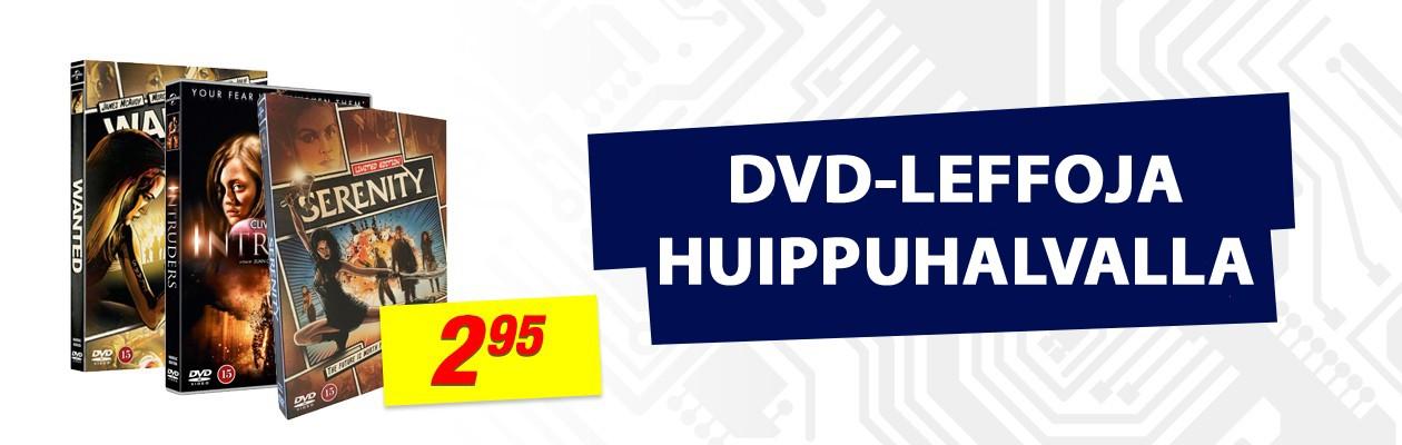 DVD-leffoja huippuhalvalla