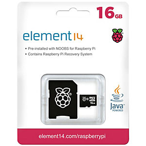 Raspberry Pi NOOBS og Raspbian Micro SD 16 GB