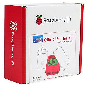 Raspberry Pi 3 Off startsett (hvit/rød