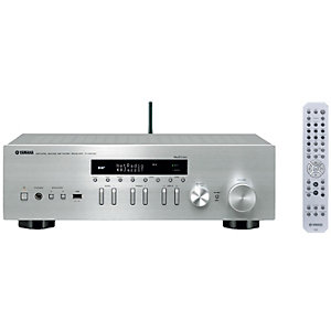 Yamaha 2.0 stereo receiver R-N402D (silver)