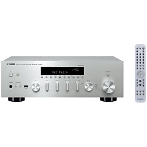 Yamaha 2.1 stereo receiver R-N602 (sølv)