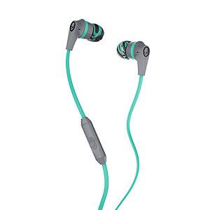 Skullcandy Ink'd 2 in-ear hörlurar (grå/mint)