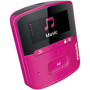 Philips GoGear Raga MP3-spelare 4 GB SA4RGA04PK (rosa)