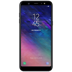 Samsung Galaxy A6 Plus smarttelefon (sort)
