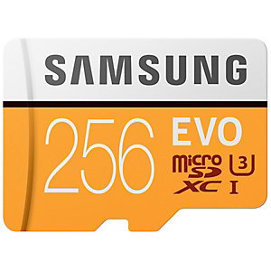 Samsung Evo Micro SDXC UHS-3 minnekort 256 GB