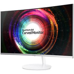 """Samsung Curved C27H711 27"""" skjerm (hvit)"""