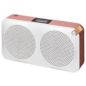 Sandstrøm bærbar DAB+ radio SCARIADUBK17E (rosegull)