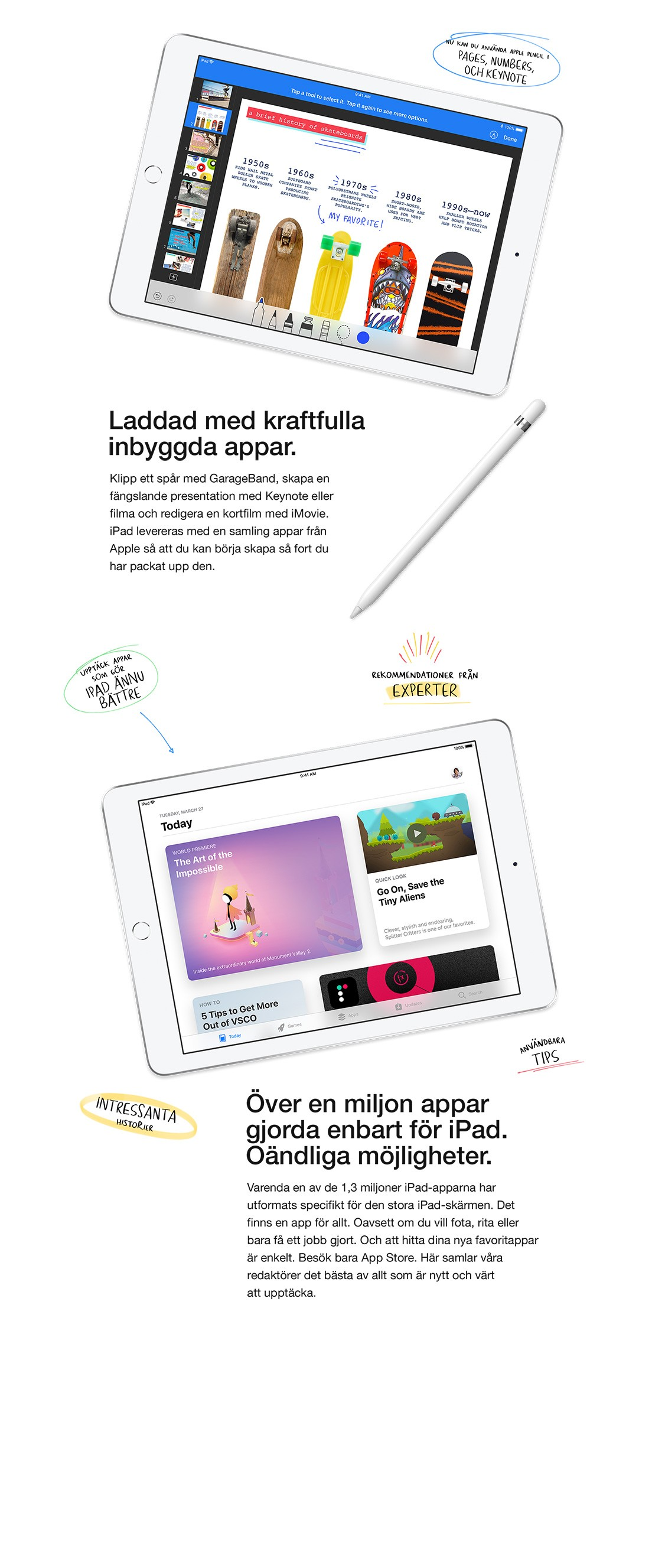 Det finns över en miljon tillgänliga appar som är gjorda enbart för iPad