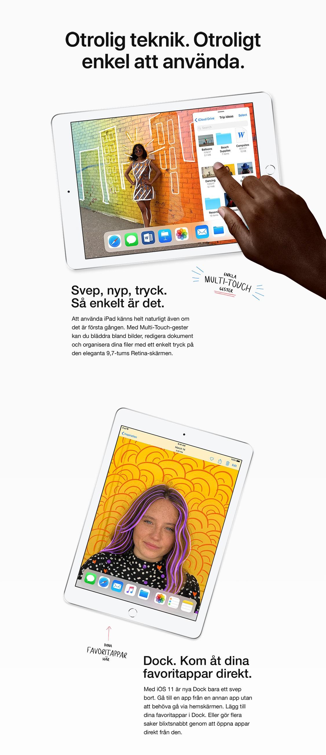 En riktigt lång batteritid låter dig använda din iPad 10 timmar i sträck