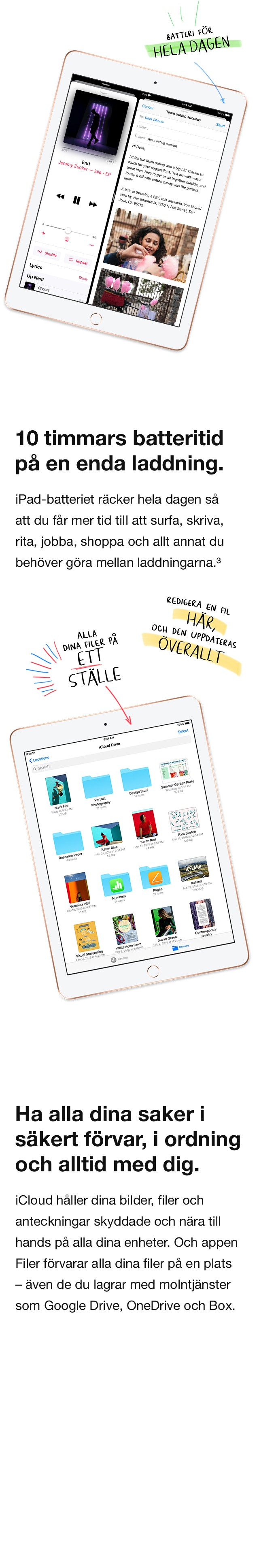 iPad är riktigt enkel att lära sig att använda och passar för alla. Multi-touch-gester gör det enkelt att bläddra bland dina bilder, redigera de och att organisera dina filer