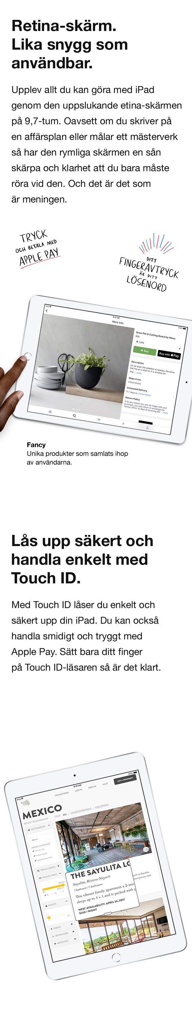 Tryck och betala snabbt och enkelt med Apple Pay