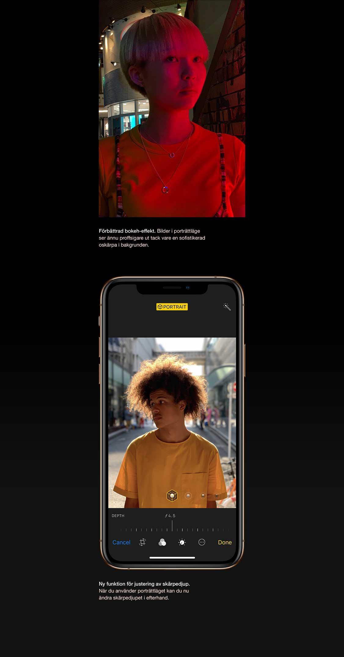 iPhone Xs bjuder på avancerad bokeh i dina porträttbilder