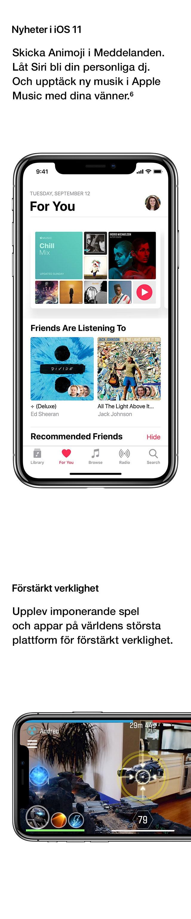 Nyheter i iOS 11