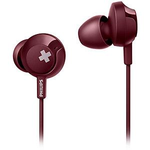 Philips Bass+ in-ear hodetelefoner SHE4305 (rød)