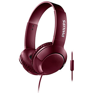 Philips Bass+ on-ear kuulokkeet SHL3075 (punainen)