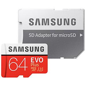 Samsung Evo Plus Micro SDXC UHS-3 minneskort 64 GB