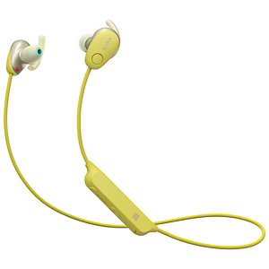 Sony WI-SP600 trådløse in-ear hodetelefoner (gul)